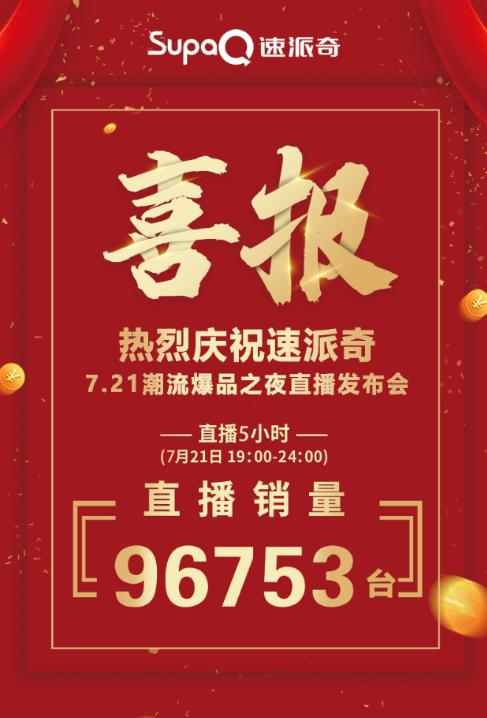直播收获订单96753台,bob棋牌下载奇用数据证明实力,彰显王者风范!