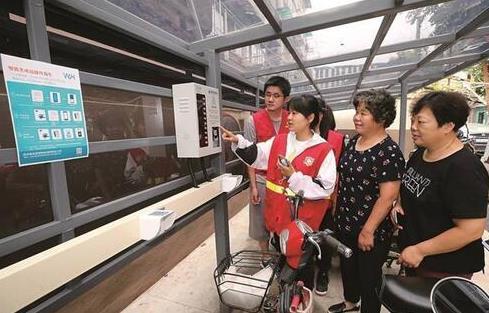 南京市鼓楼区近九成小区装上电动自行车充电桩